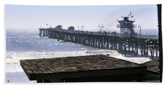 Beach Sheet featuring the photograph San Clemente Pier California by Clayton Bruster