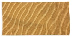 Sand Ripples Abstract Beach Towel