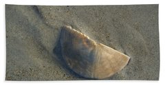 Beach Towel featuring the photograph Sandollar In Maine by Nancy Griswold