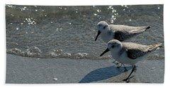 Sandpiper 5 Beach Towel by Joe Faherty