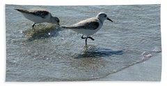 Sandpiper 7 Beach Towel by Joe Faherty