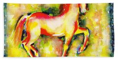 Scarlet Beauty Beach Towel