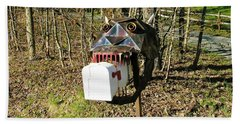 Beach Towel featuring the photograph Scary Mailbox 3 by Sherman Perry