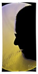 Schlieren Image Of A Man Mouth-breathing Beach Towel