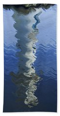 Beach Towel featuring the photograph Scott Memorial Roath Park Cardiff Reflections by Steve Purnell