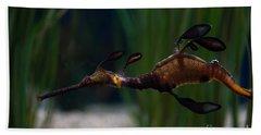 Sea Dragons Beach Sheet by Carol Ailles
