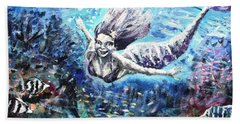 Beach Towel featuring the painting Sea Surrender by Shana Rowe Jackson