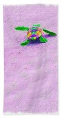 Sea Turtle Escape Beach Towel