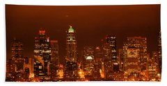 Seattle Skyline Beach Towel