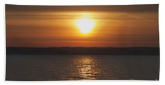 Beach Towel featuring the photograph Seneca Lake Sunrise by William Norton