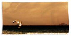 Sennen Seagull Beach Sheet by Linsey Williams