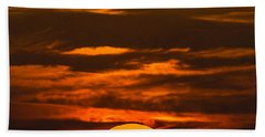 Setting Sun Flyby Beach Towel by Shannon Harrington