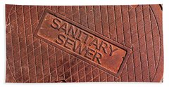 Sewer Cover Beach Towel by Bill Owen