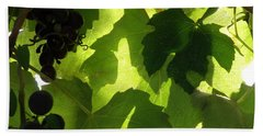 Beach Towel featuring the photograph Shadow Dancing Grapes by Lainie Wrightson