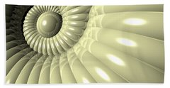 Beach Towel featuring the digital art Shell Of Repetition by Phil Perkins
