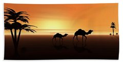 Ships Of The Desert Beach Towel