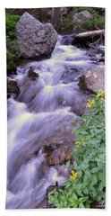 Beach Towel featuring the photograph Silky Stream by Zawhaus Photography