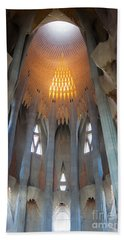 Skylight At Gaudi Cathedral Beach Towel