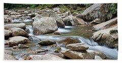 Smoky Mountain Streams Beach Towel