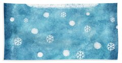 Snow Winter Beach Towel