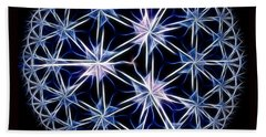 Snowflakes Beach Towel by Danuta Bennett