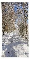 Snowpath Beach Towel