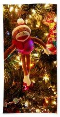 Sock Monkey Is In The Season Beach Sheet