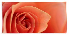 Soft Rose Petals Beach Towel