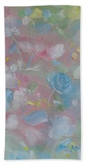 Beach Towel featuring the painting Softly Spoken by Judith Rhue