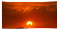 Solar Eclipse Beach Towel by Bill Pevlor