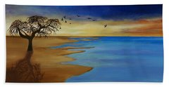 Beach Towel featuring the painting Solitude by Michelle Joseph-Long