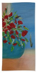 Beach Towel featuring the painting Southwestern 1 by Judith Rhue