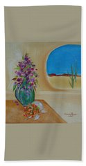 Beach Sheet featuring the painting Southwestern 3 by Judith Rhue