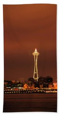 Space Needle Morning Beach Towel