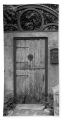 Spanish Renaissance Courtyard Door Beach Sheet