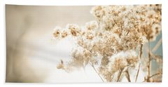 Beach Sheet featuring the photograph Sparkly Weeds by Cheryl Baxter