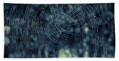 Beach Towel featuring the photograph Spider Web by Matt Malloy