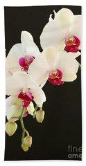 Spray Of White Orchids Beach Sheet