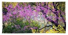 Spring Trees In San Antonio Beach Towel