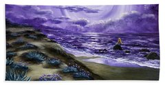 Spying A Mermaid From Flowering Sand Dunes Beach Towel