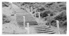Stairs At Baker Beach Beach Towel