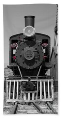 Beach Towel featuring the photograph Steam Engine Train by Deniece Platt