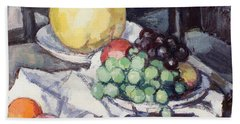 Still Life With Melons And Grapes Beach Towel