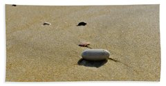 Stones In The Sand Beach Towel