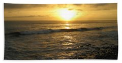 Storm At Sea Beach Towel