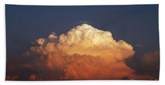 Storm Clouds At Sunset Beach Towel