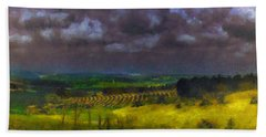Storm Clouds Over Meadow Beach Towel