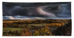 Storm Clouds Over The Sturgeon River Beach Towel