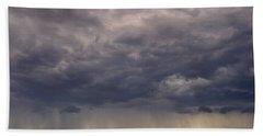 Storm Over The Mesa Beach Towel