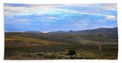 Stormy Wyoming Sunrise I Beach Sheet